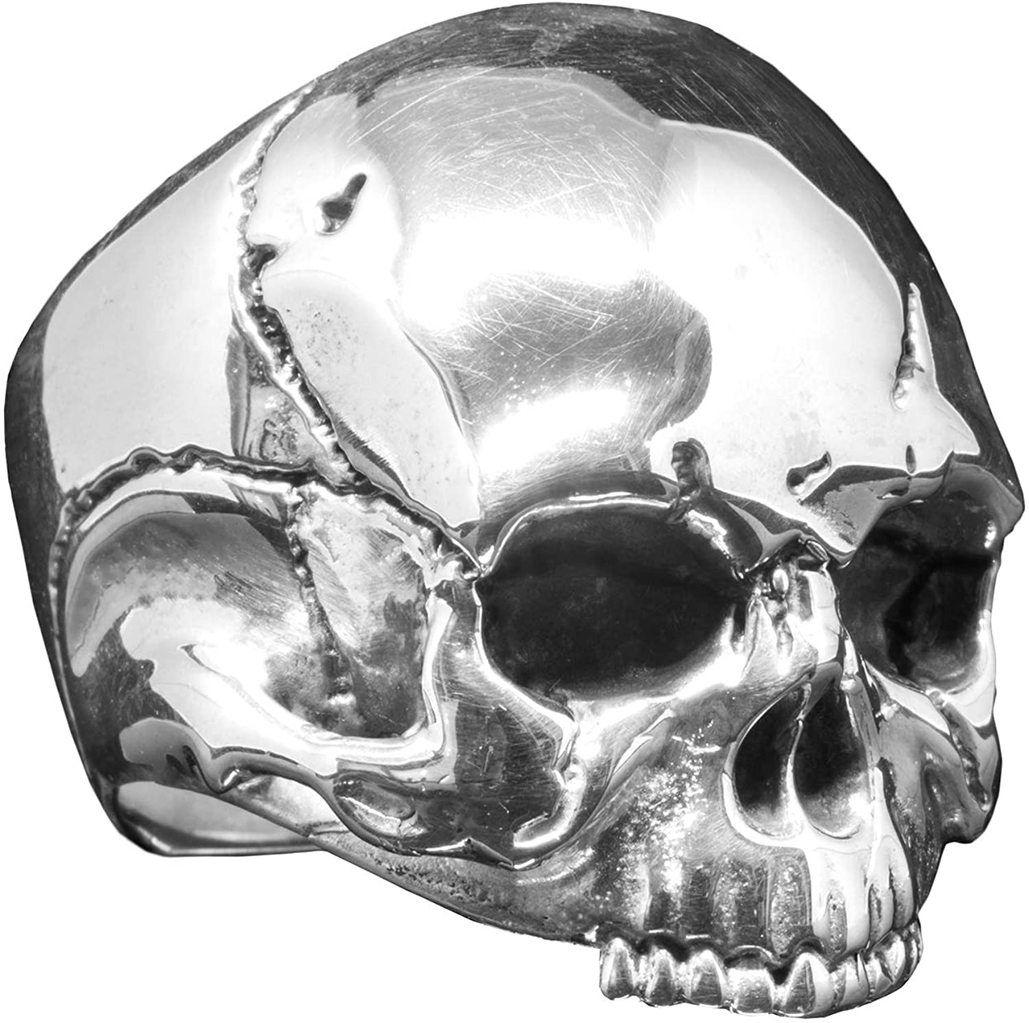 Dead Ringers Keith – Relic Series an Artisan Handcrafted Silver Skull Ring Inspired by Keith Richards.