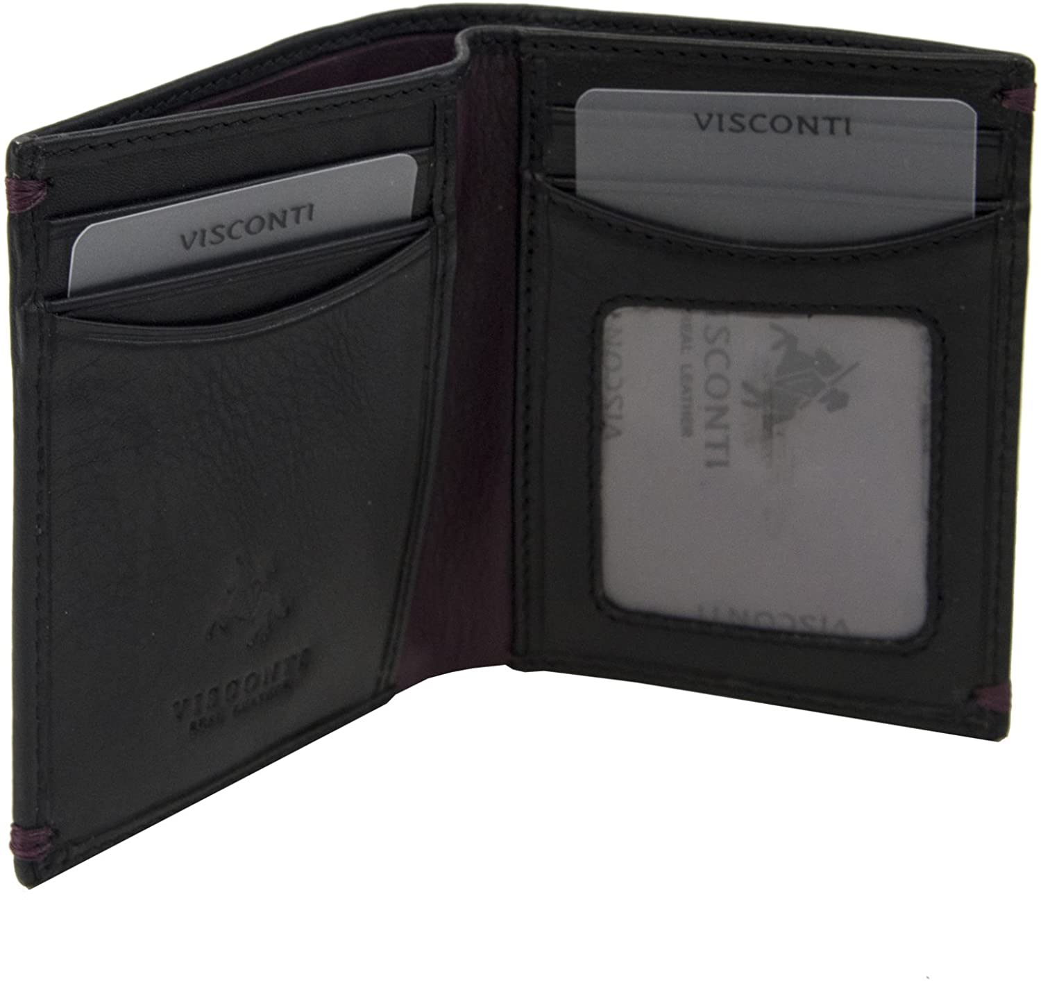 Visconti AP60 Thun Genuine Leather Mens Bi-fold Wallet