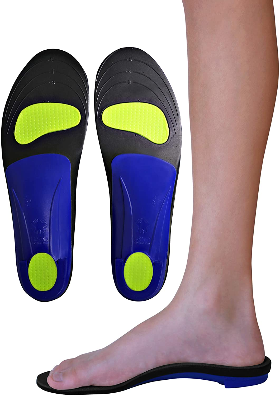 KidSole Shooting Star: Arch Support Posture Correcting Insole. Slim & Lightweight Design with Memory Foam Top. ((24 cm) Kids Size 3-6)