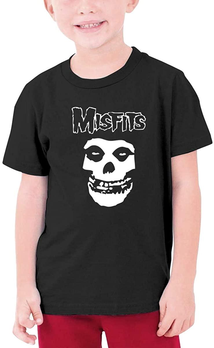 Boys and Girls Teens Short Sleeve T-Shirt Misfits Unique Retro Design Black