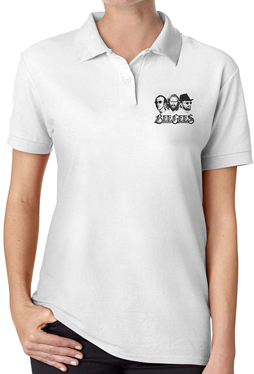 Wesley S Lance Bee Gees Band Women's Slim Fashion Polo Shirt Short Sleeve T-Shirt