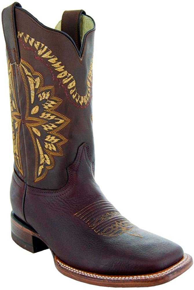 Soto Boots Men's Lone Star Square Toe Leather Cowboy Boots H4008