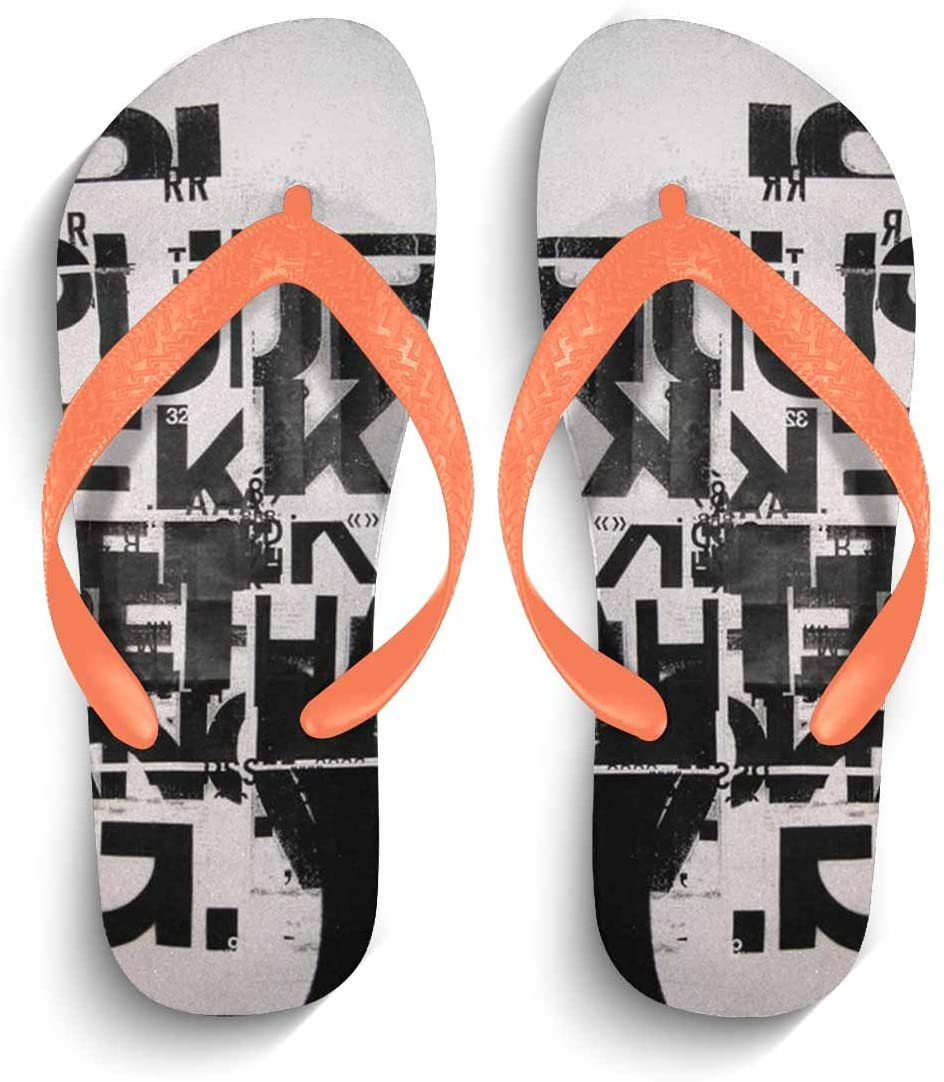 Eric Carl Mens Stylish Sandals Comfortable Anti-Slip Flip Flops