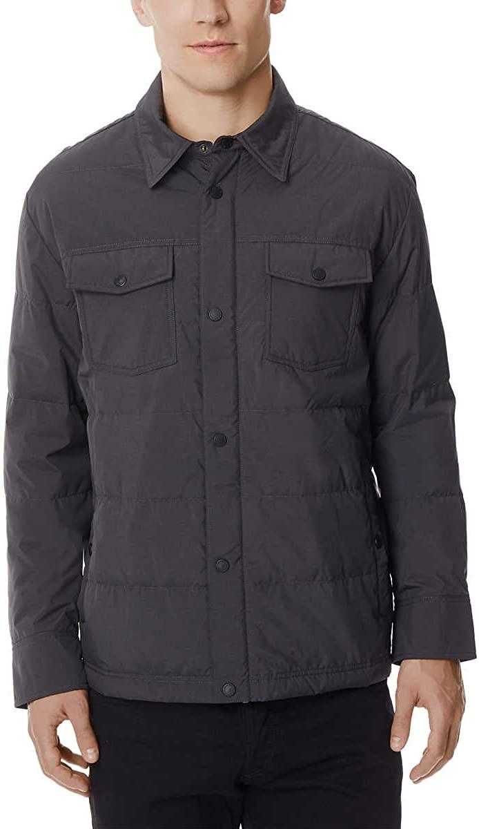 32 DEGREES Mens Packable Down Shirt Jacket