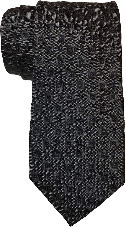 Luciana Barbera Charcoal Medallion 7 Fold Tie