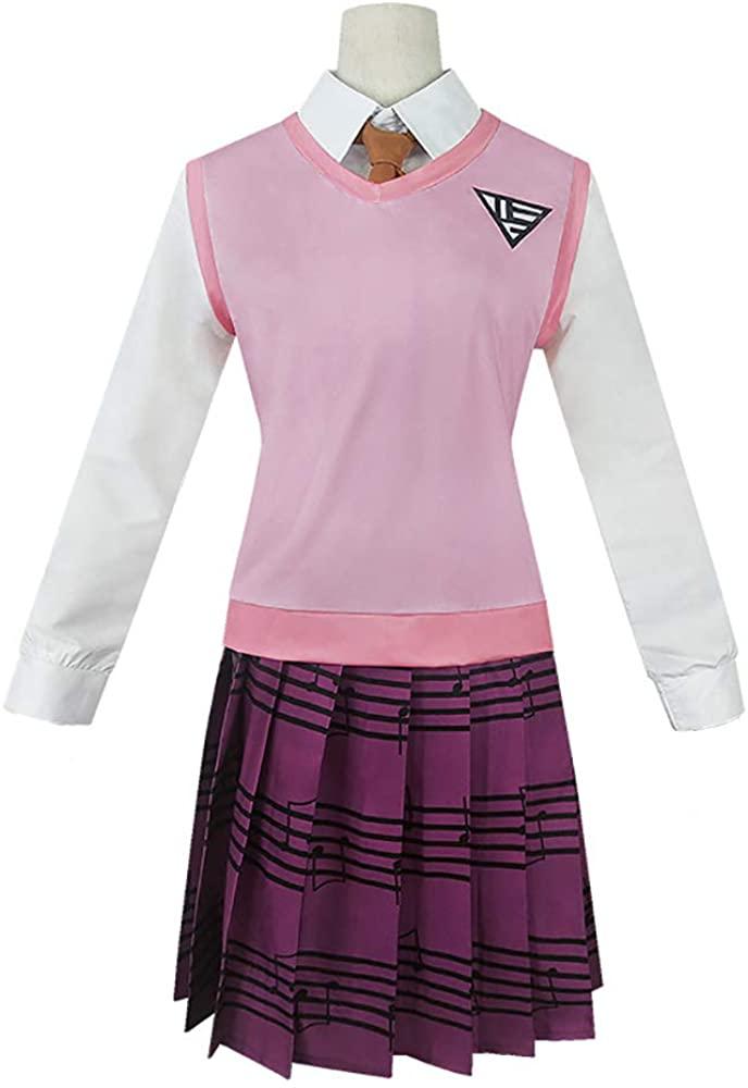 FOWW Anime Danganronpa Cosplay Costumes Akamatsu Kaede Uniforms Suit Dress Halloween Party for Women Girls