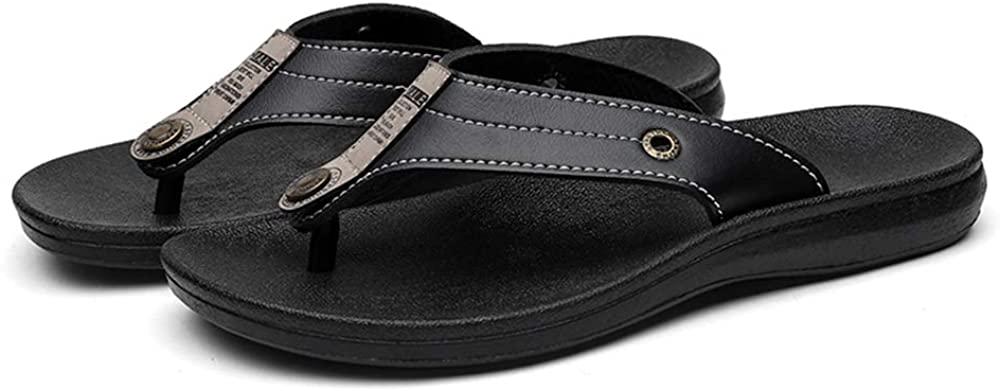 Bitiger Men's Flip Flops Arch Support Sport Thong Indoor & Outdoor Sandals Non Slip Outdoor Beach Walking Slippers