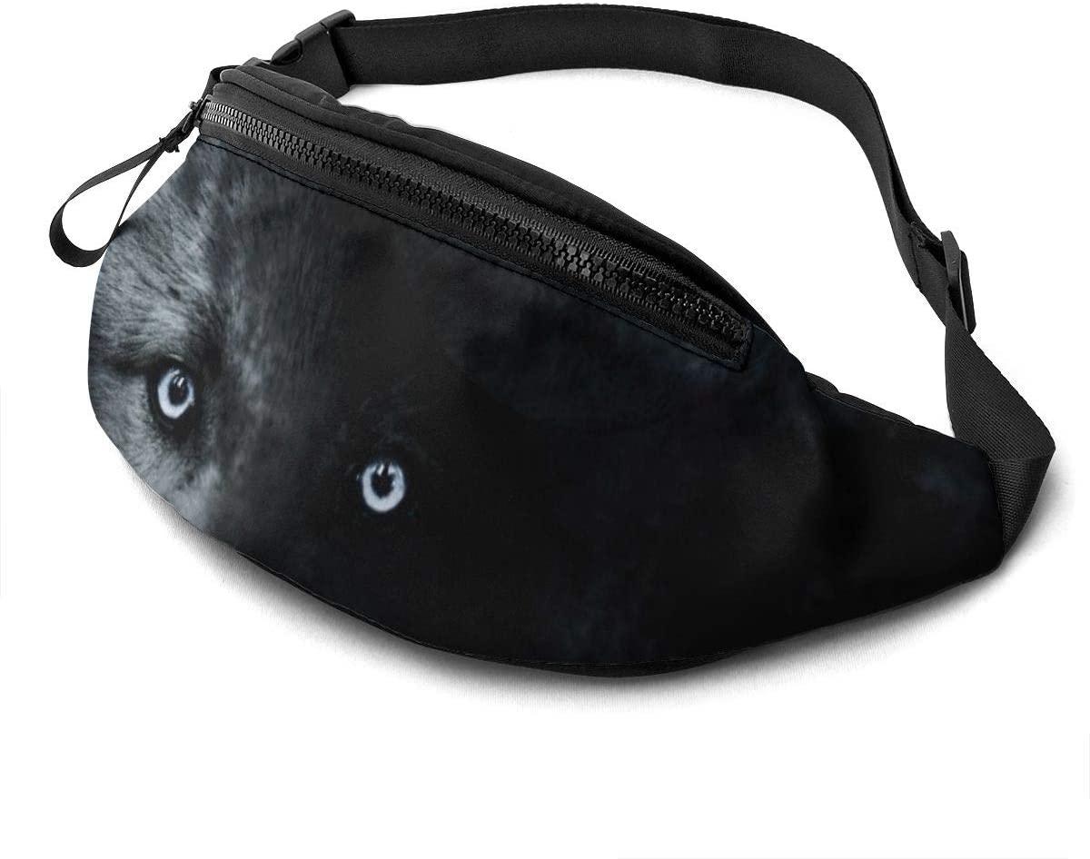 Full Moon Wolf Fashion Casual Waist Bag Fanny Pack Travel Bum Bags Running Pocket For Men Women