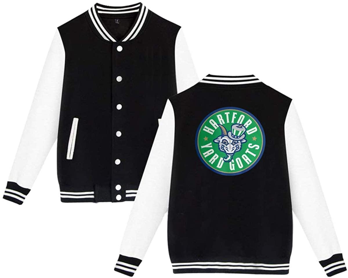 HUYAJGODGP-kiusdm Yard Goats Unisex Baseball Jacket Varsity Jacket Black