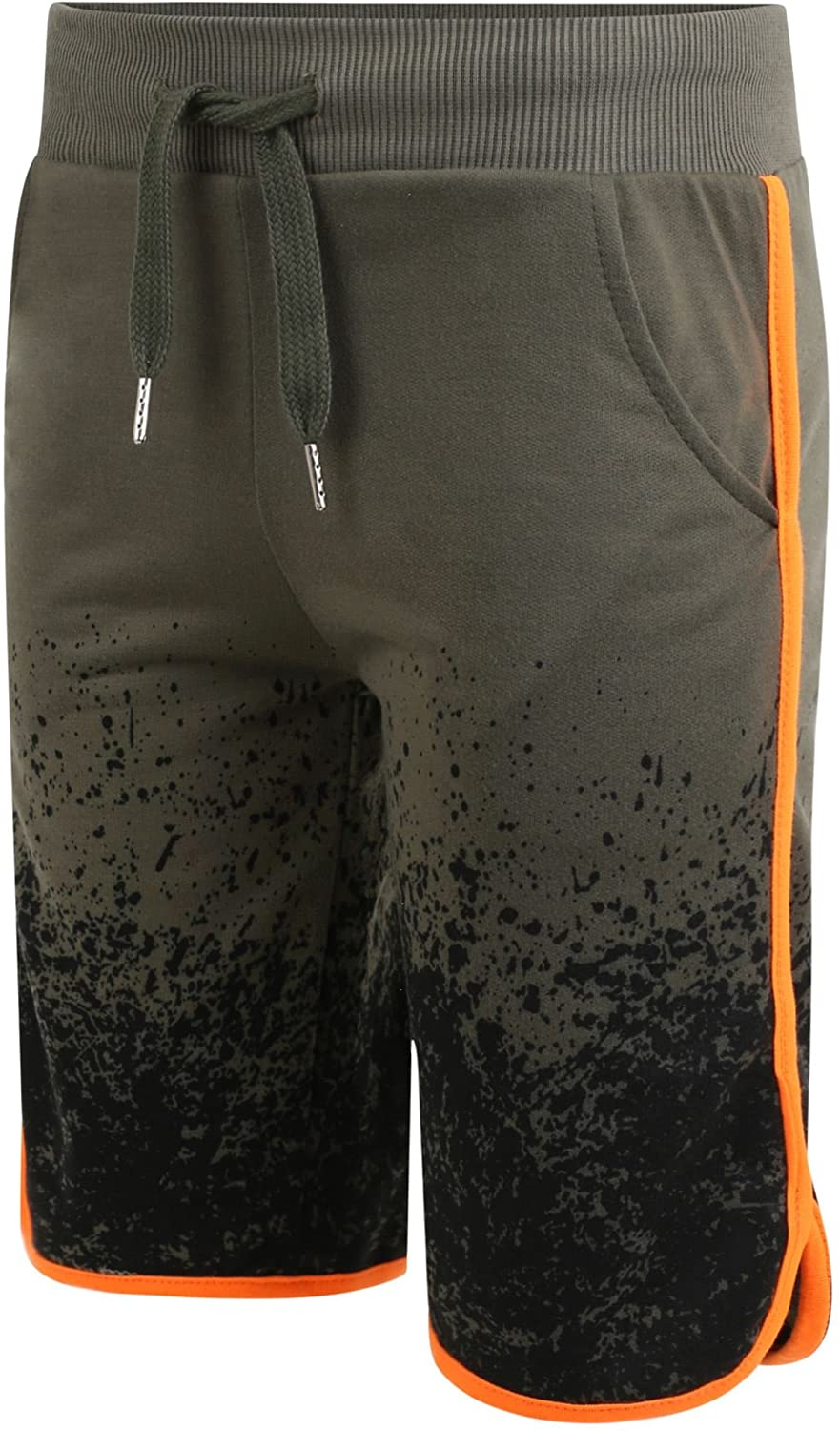 LOTMART Boys Jersey Shorts Splash Print