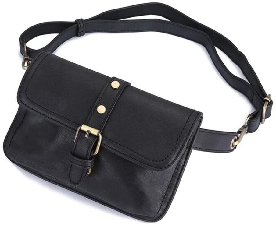 Women Leather Belt Bag Waist Bag Hand Free Bags Lady Pouch Belt Waist Pack