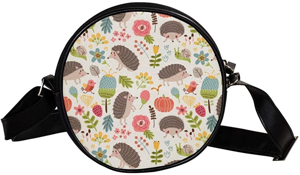 Coin Purse For Kids The Hedgehog Flowers Grass Mini Crossbody Bag Girls Wallet