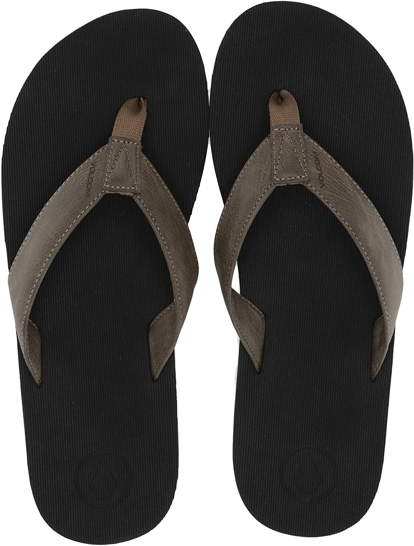 Volcom Mens Fathom Synthetic Leather Sandal
