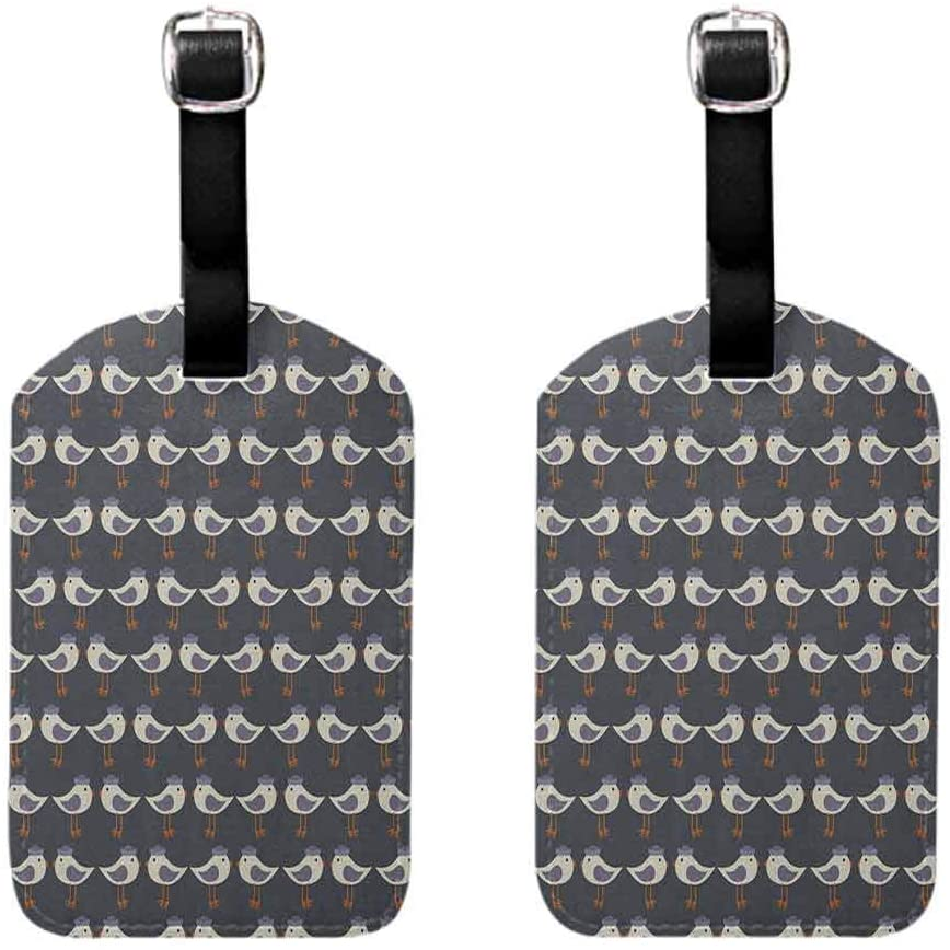 Luggage Tags Heavy Smoke of Industrial Chimney Pollution Contamination Environment Cute Novelty