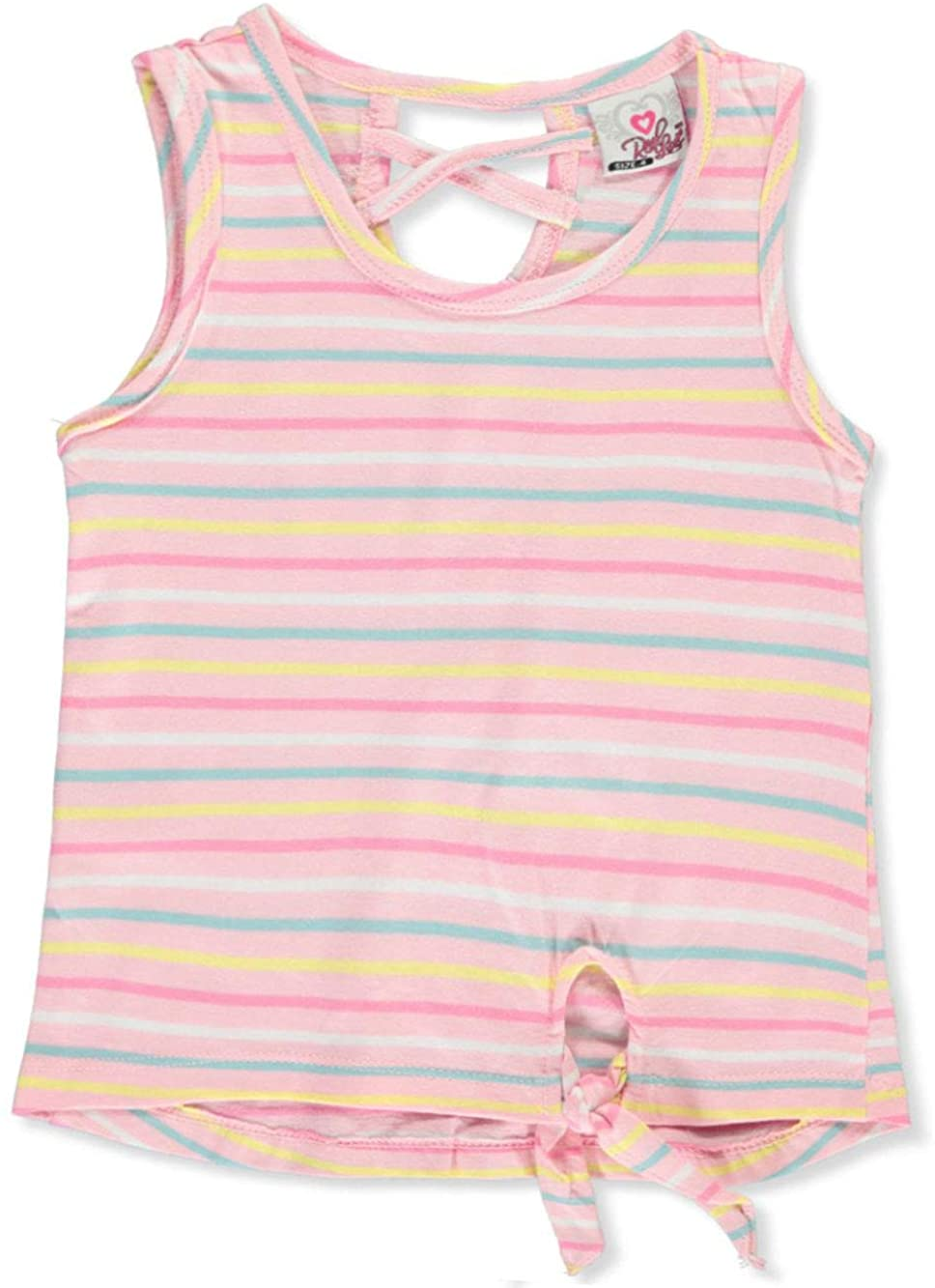 Real Love Little Girls Stripe Tank Top - Pink/Multi, 4