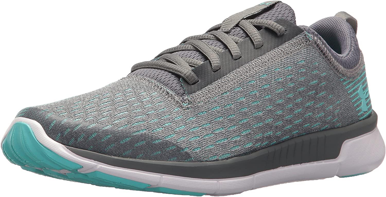 Under Armour Girls' Grade School Lightening 2 Sneaker, Zinc Gray (100)/Aluminum, 5.5