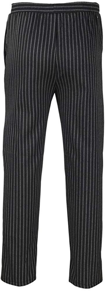 Icegrey Unisex Traditional Baggy Chalk Stripe Chef Pant Kitchen Work Pants