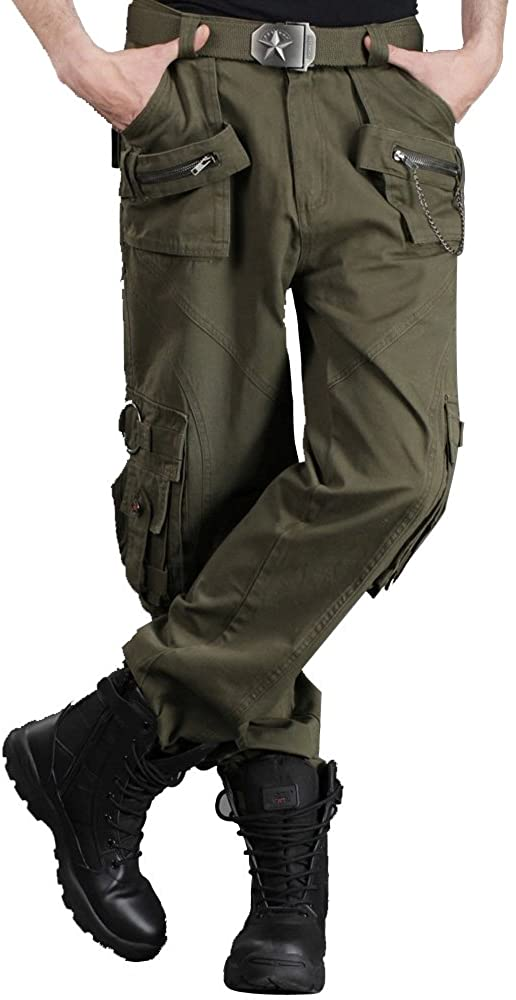 Free Knight Men's Combat Tactical Multi-Pocket Outdoor Trousers Army Cargo Pants