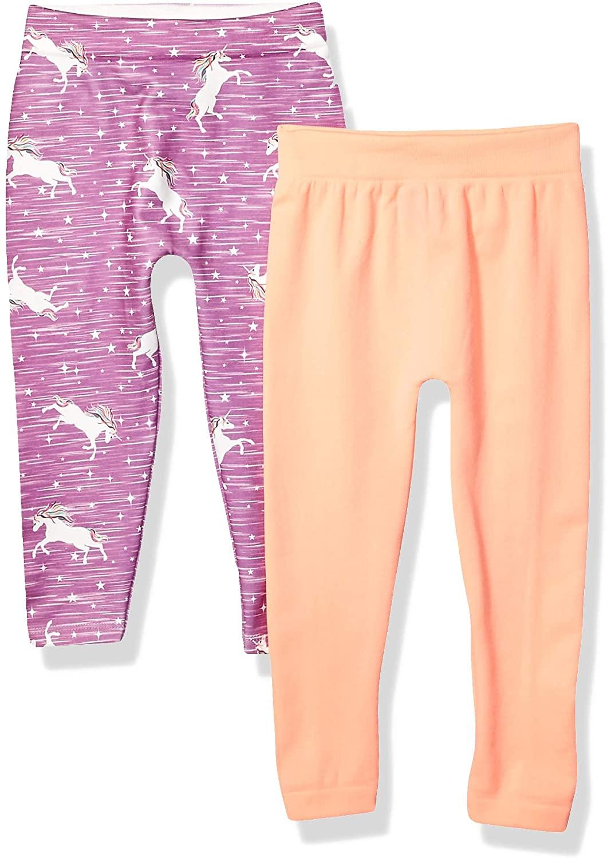 Limited Too Girls' 2 Pack Fleece Lined Seamless Jacquard Legging