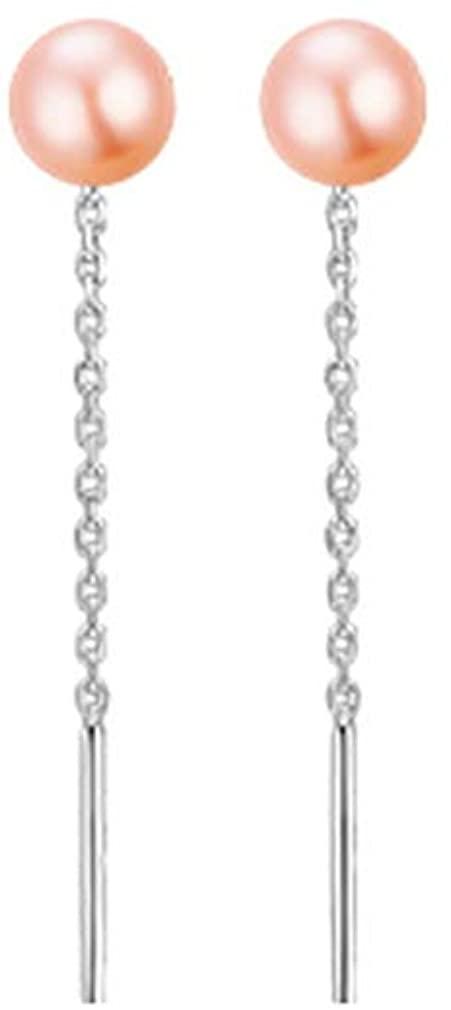 YAZILIND Silver Plated Ear Line Imitation Pearl Drop Earrings Women Girls Jewelry Gift