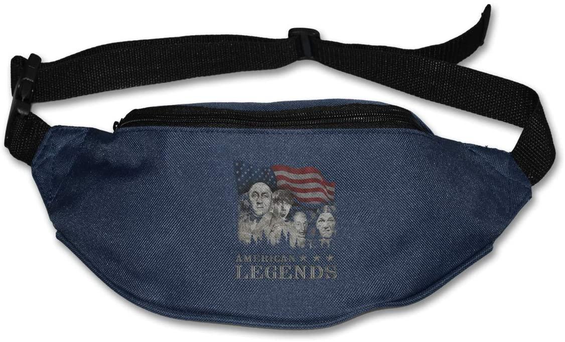 Ssxvjaioervrf Mount Rushmorons Three Stooges Running Belt Waist Pack Runners Belt Fanny Pack Navy