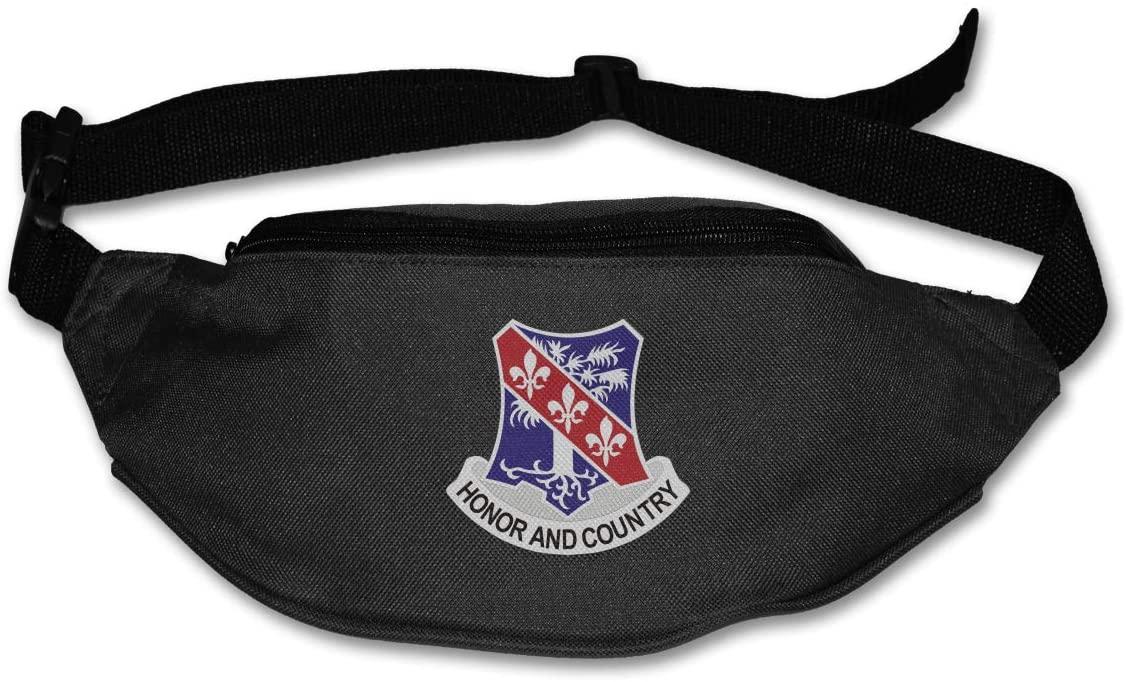 327th Infantry Regiment Unisex Outdoors Fanny Pack Bag Belt Bag Sport Waist Pack
