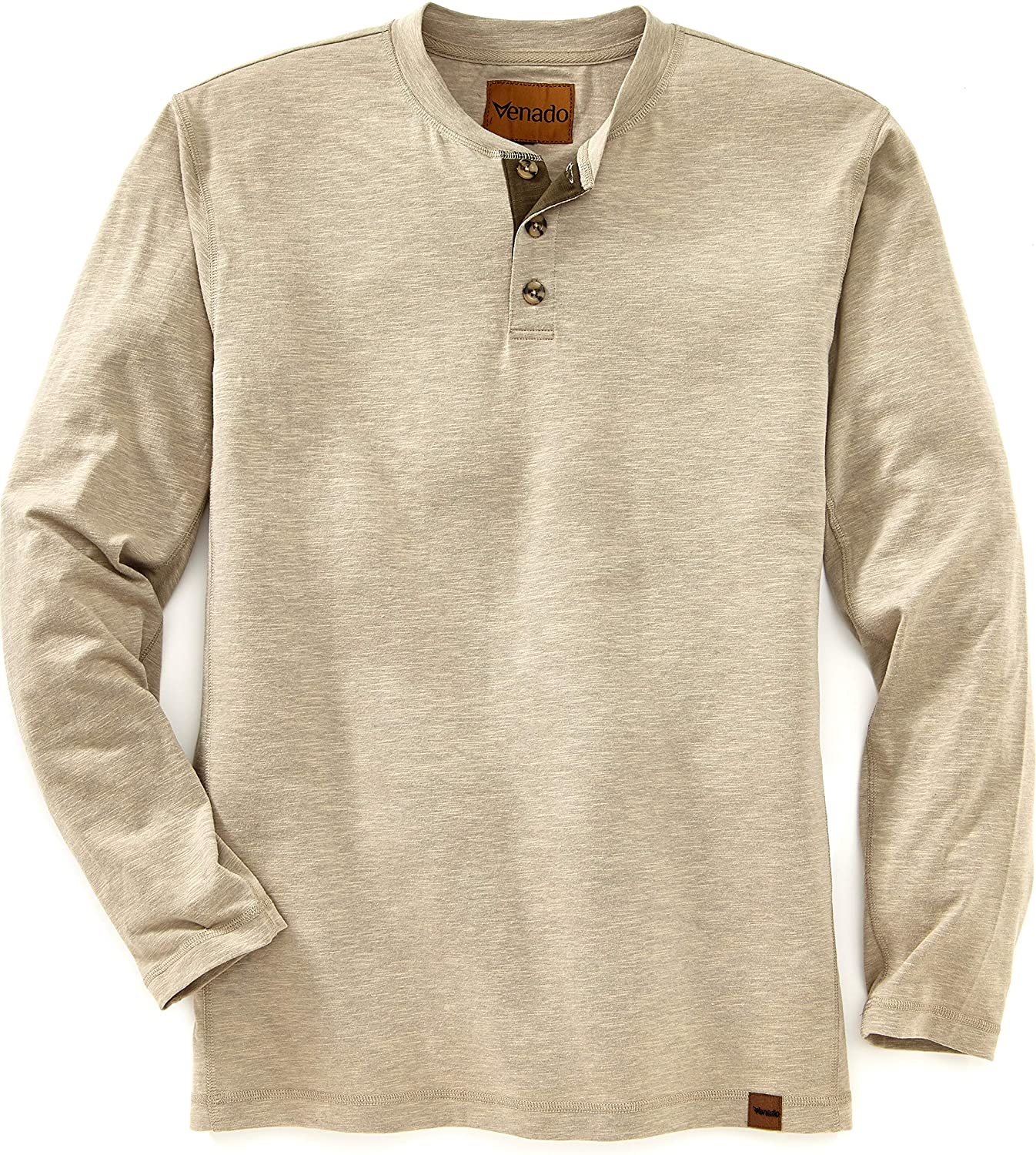 Venado Henley Long Sleeve Shirts for Men - Mens Henley with Flex Material