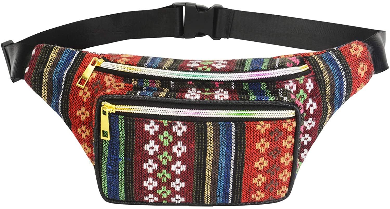Festival Fanny Pack - Boho Packs for women, men|Stylish Linen Belt Bag