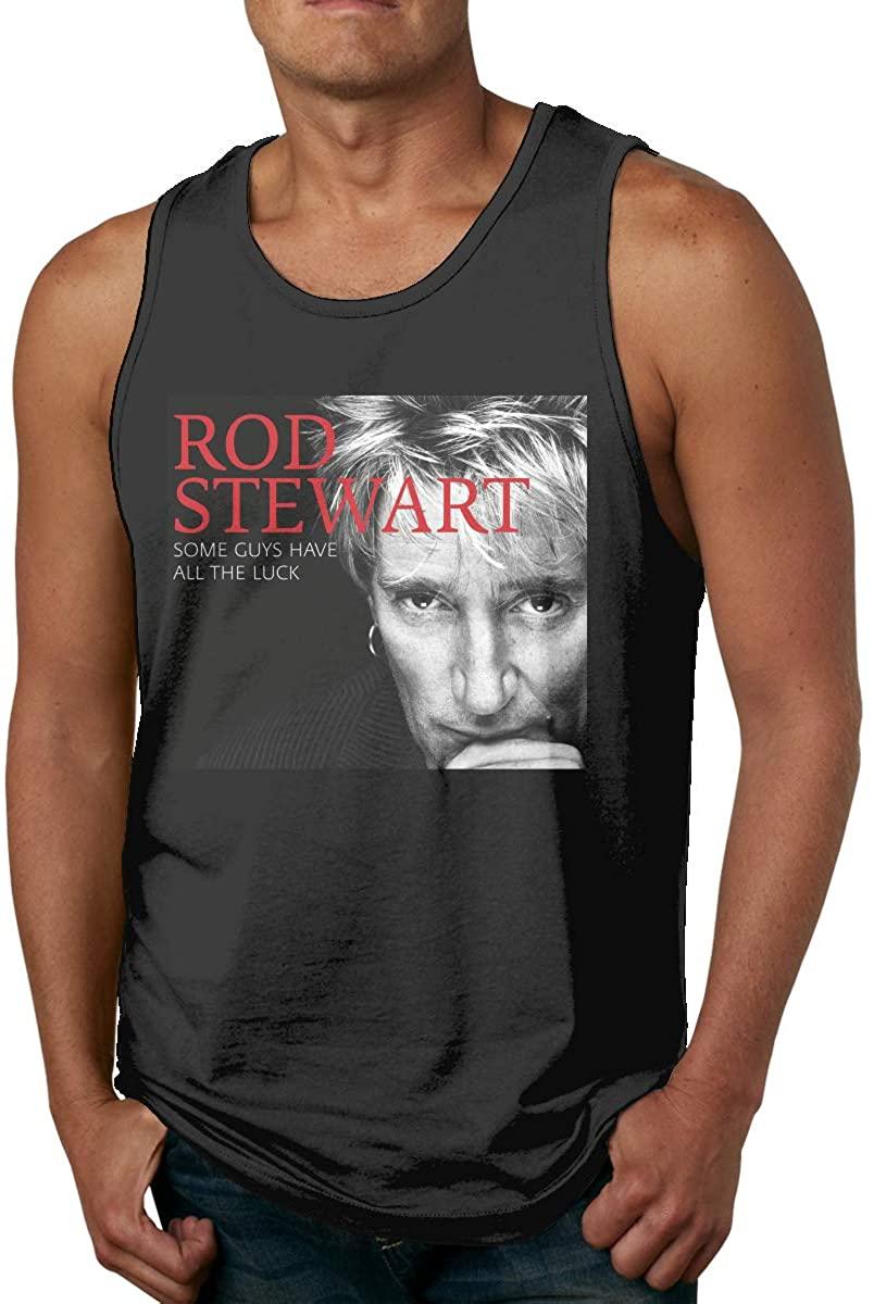 Rod Stewart Men Comfort Funny Cool Cotton Tank Top Shirt Black