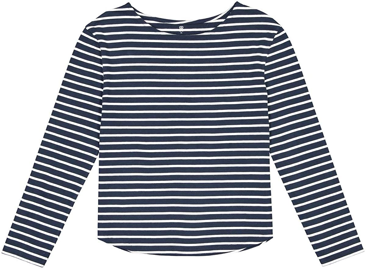 La Redoute Collection Cotton Breton Striped T-Shirt with Long Sleeves, 10-16 Years