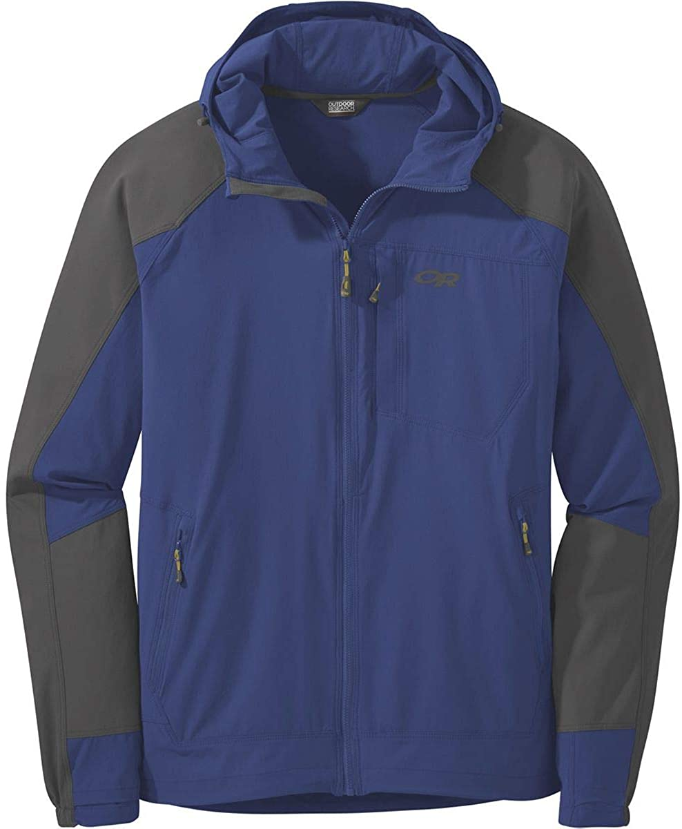 Outdoor Research Ferrosi Hooded Jacket - Men's Sapphire/Storm, M