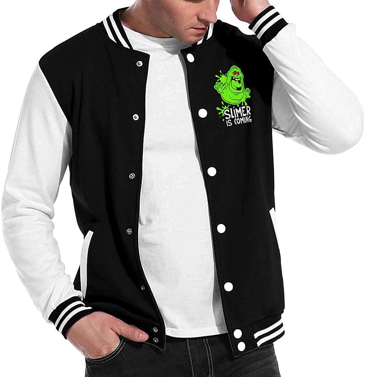 1836 Ghostbusters Slimer is Coming Unisex Baseball Jacket Varsity Jacket