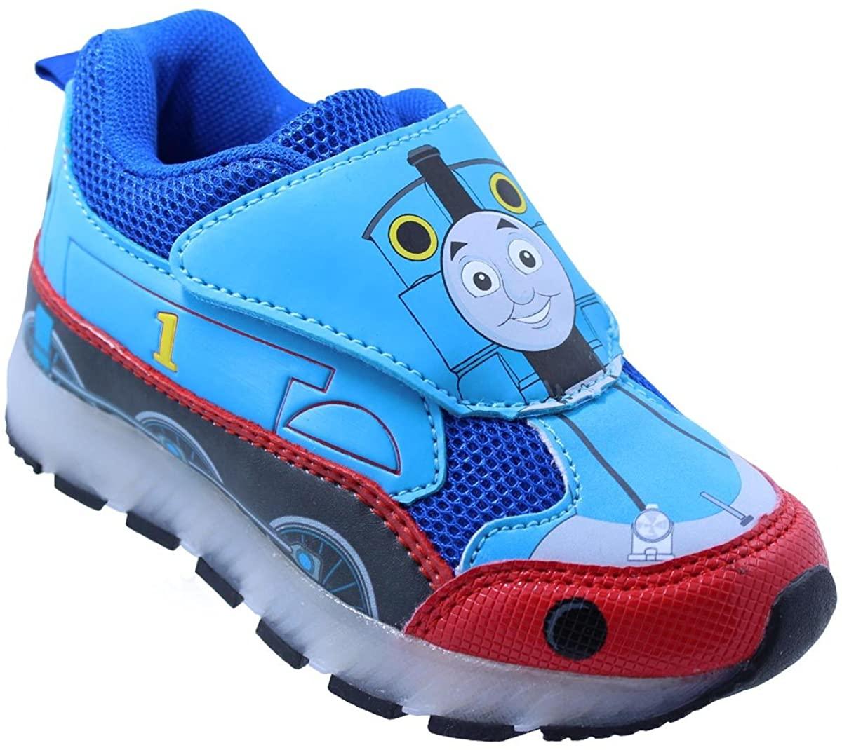 Thomas The Train Toddler Boys' Light-Up Train Athletic Running Shoe Sneaker Blue (8 M US Toddler)