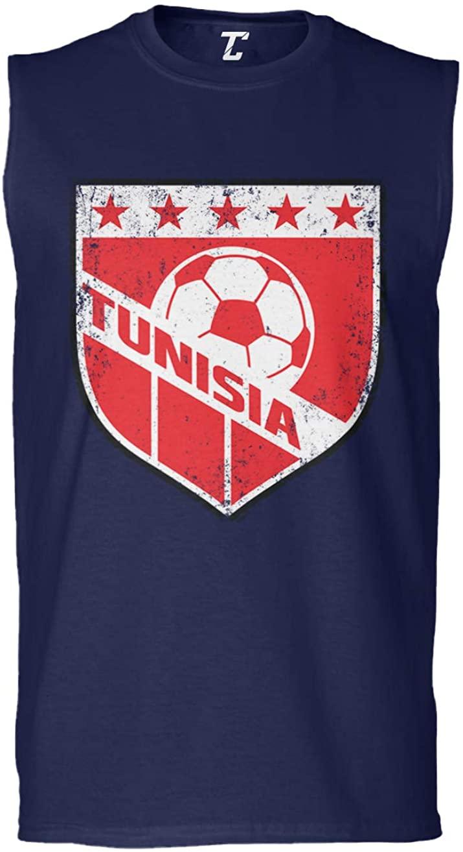 Tunisia Crest - Soccer Futbol Sports Men's Sleeveless Shirt