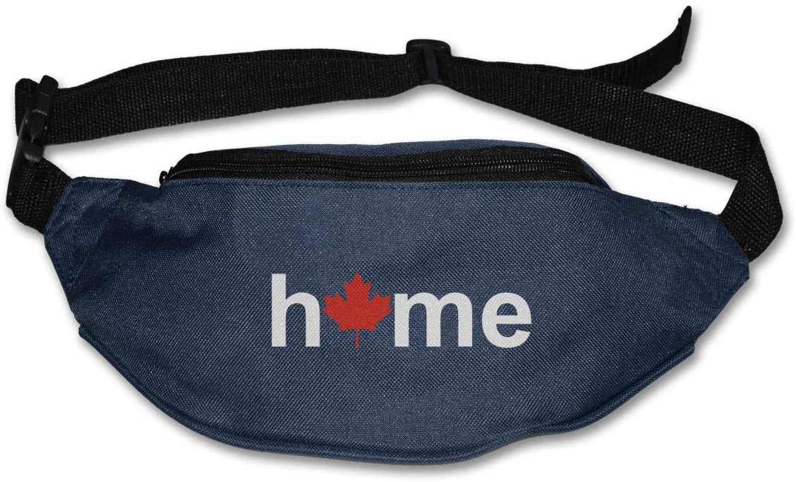SWEET-YZ Unisex Waist Pack Canada Home Maple Flat Fanny Bag Pack for Sport Running