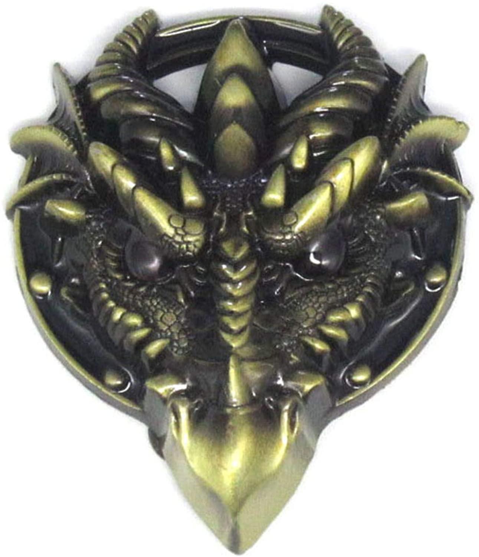 Bronze Gothic Dragon Head Belt Buckle