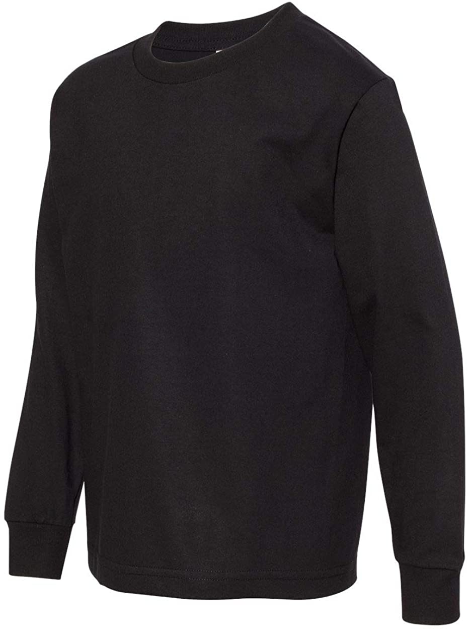 Alstyle - Youth Classic Long Sleeve T-Shirt - 3384 - L - Black