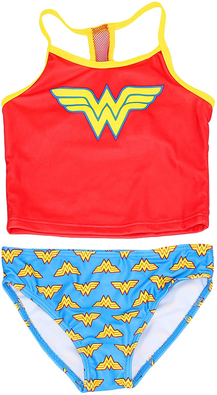 DC Comics Little Girl's Wonder Woman 2-Piece Tankini Swimsuit Set