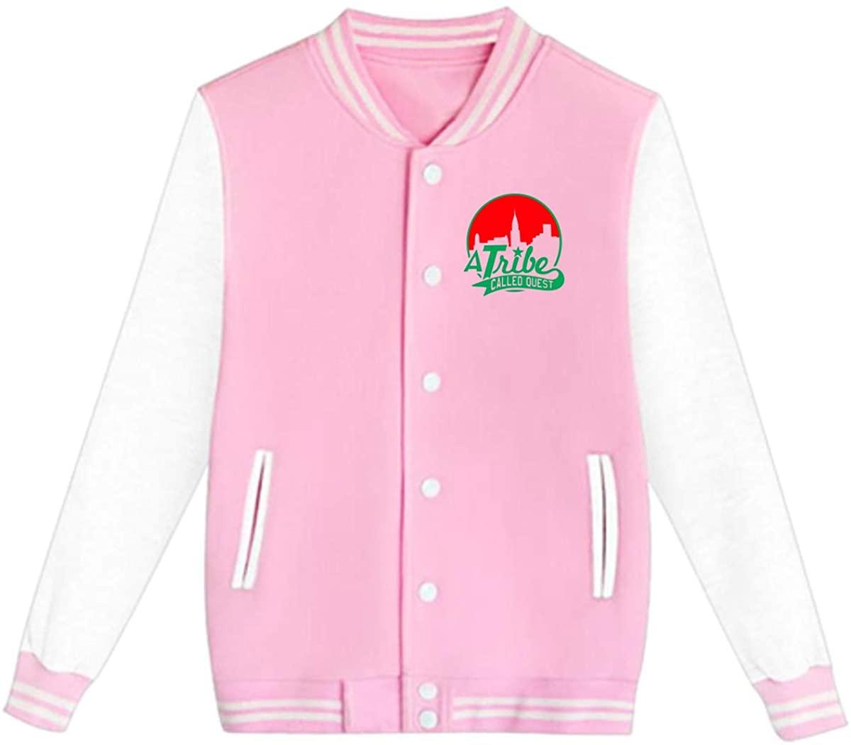 A Tribe Called Quest ATCQ Logo Unisex Youth Boys and Girls Sweatshirt Baseball Uniform Jacket Sport Coat