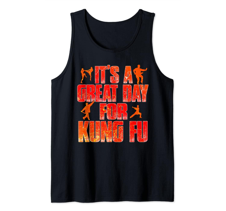 Kung Fu Dragon Retro Chinese Mixed Martial Arts Wushu Si Fu Tank Top