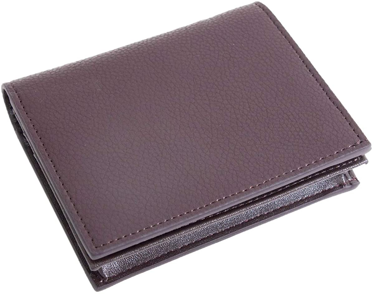 Dom Teporna True Cow Hide Genuine Leather High Capacity Card Wallet for Men and Women