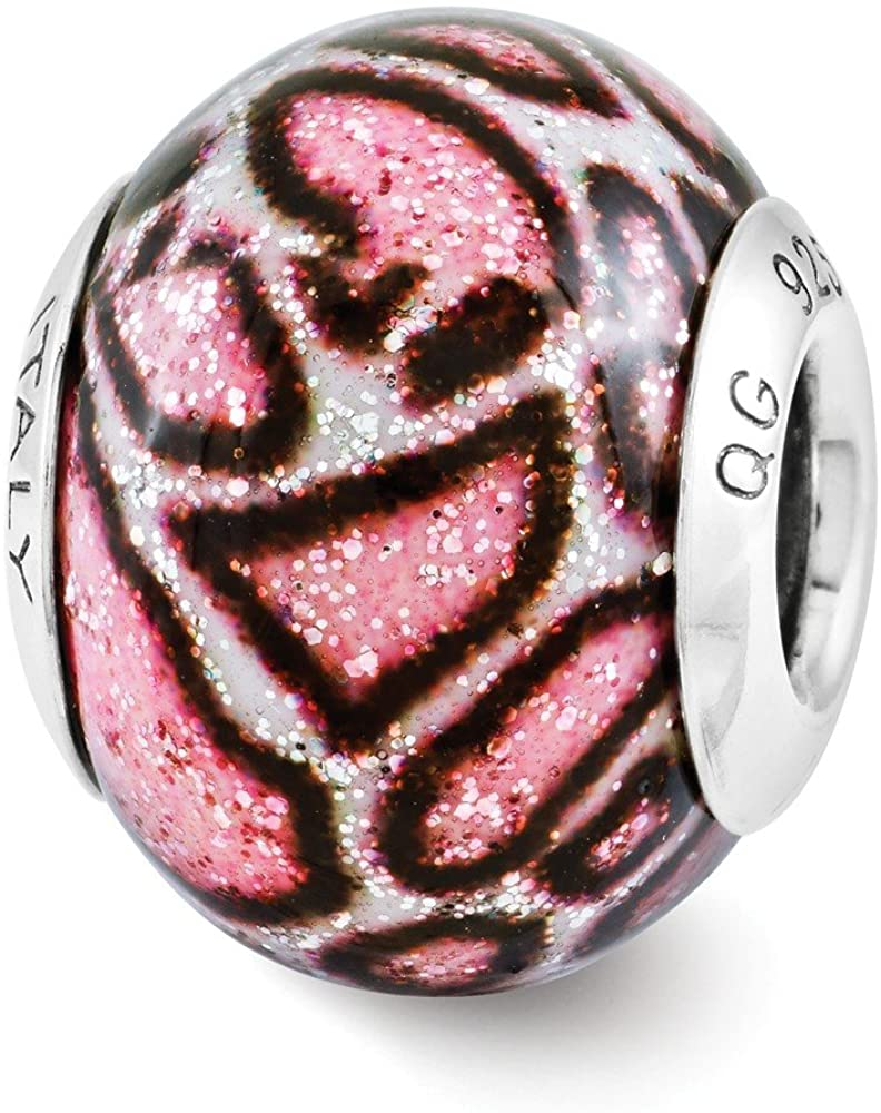 Bead Charm White Sterling Silver Overlay Designed 13.64 mm 10.00