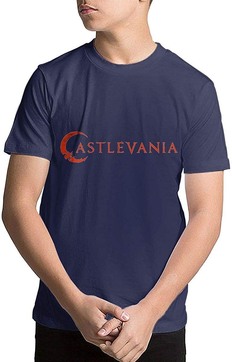 Joseph L Hurwitz Youth Kids' Castlevania Short Sleeve Printed T-Shirt Crewneck Shirt Short Sleeve