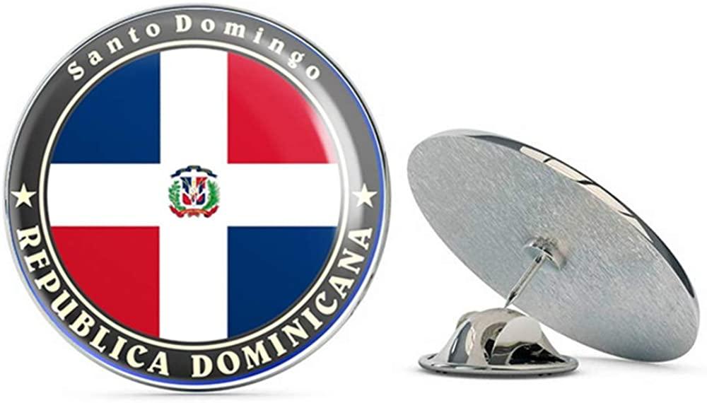 Domincan Republic Round Metal 0.75