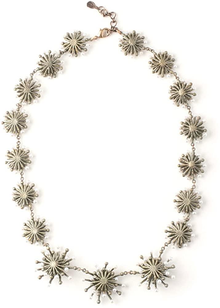 Michael Michaud Fire Wheel Necklace Bronze…