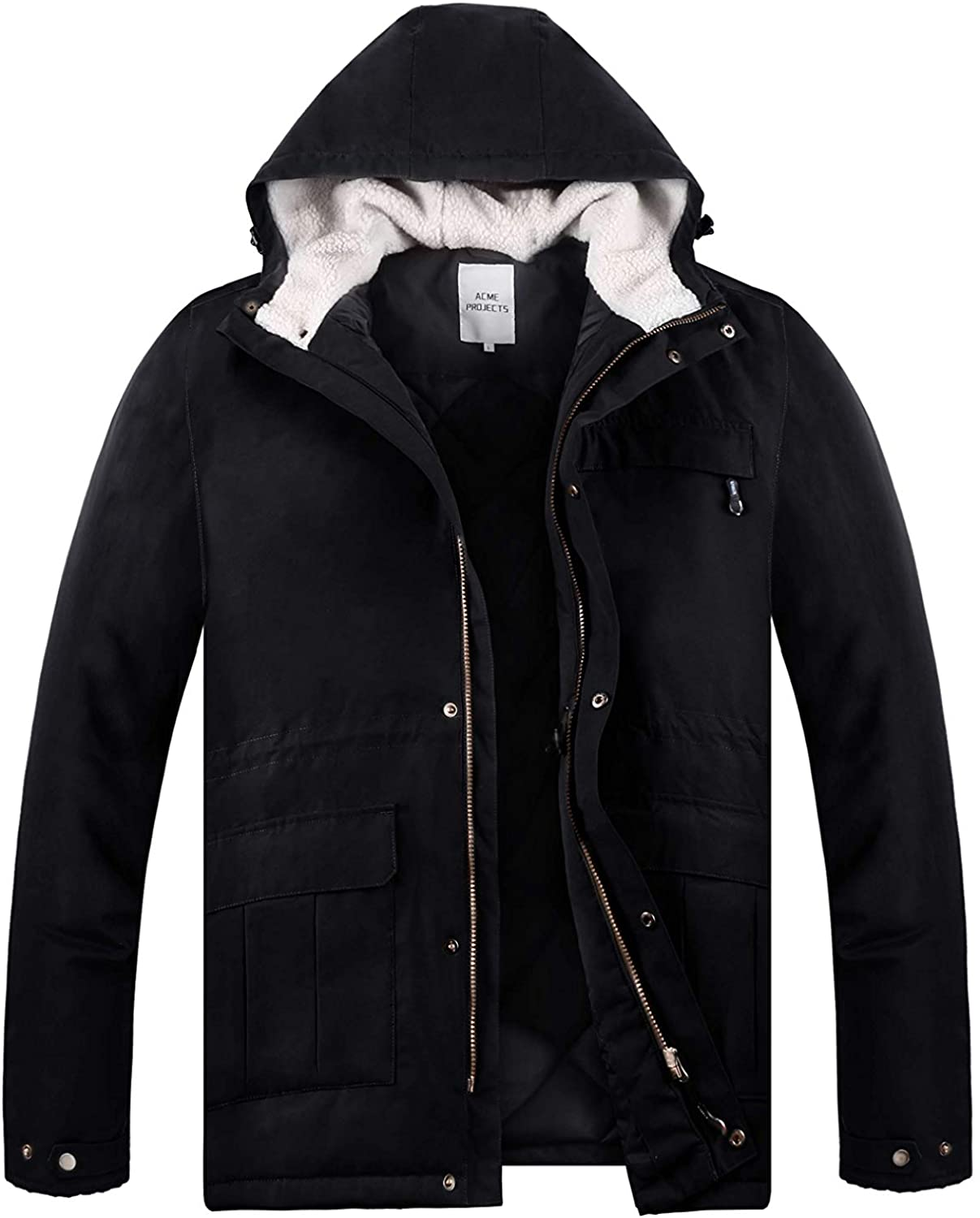 Acme Projects Mens Parka, Waterproof, Breathable, 3M Thinsulate Insulation, YKK Zipper, 8000mm/3000gm, 100% Tape Seam