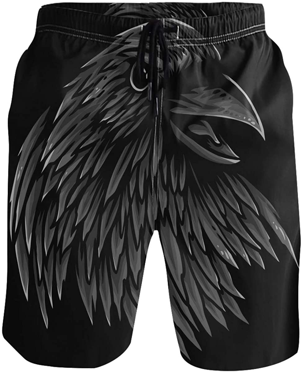 Men's Swim Trunks - Crow Head Beach Short Men Quick Dry Short