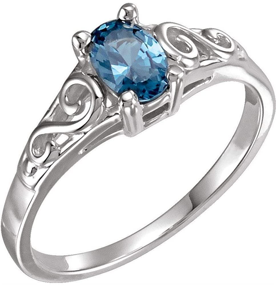 DiamondJewelryNY Color Stone Ring, Youth Precious Gift Birthstone Ring