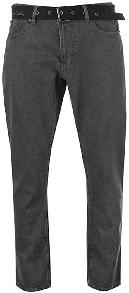 Pierre Cardin Mens New Season Regular Fit Belted Jeans