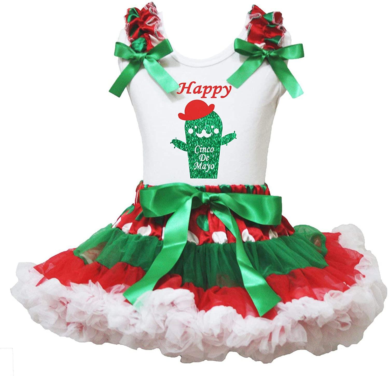 Petitebella Happy Cinco De Mayo Cactus Shirt Petti Skirt Girl Outfit 1-8y